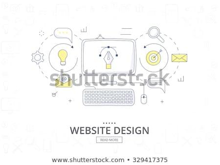 Market Monitoring Concept with Doodle Design Icons. Stock photo © tashatuvango