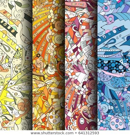 naadloos · psychedelic · ornamenten · negen · verschillend · patronen - stockfoto © olena