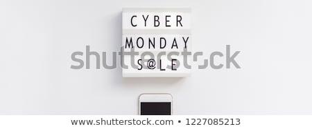cyber monday sale mobile phone sign stock photo © krisdog