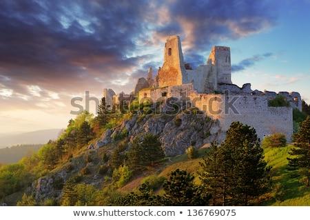 Ruinas castillo Eslovaquia edificio arquitectura historia Foto stock © phbcz