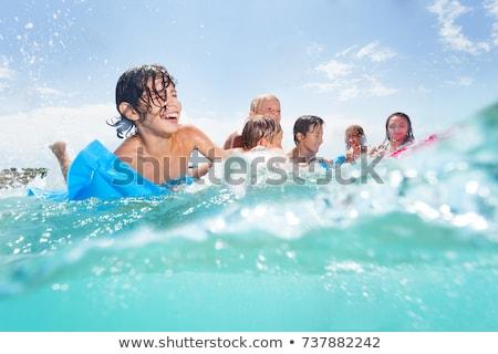 Filles adolescents jouer mer nature bikini Photo stock © IS2