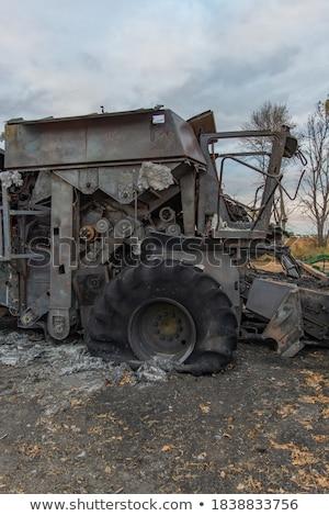 破壊された 火災 外に マシン 日 ストックフォト © Digifoodstock