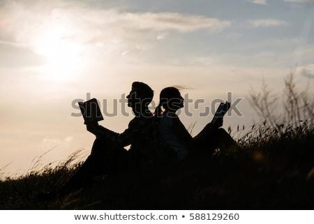 dziadek · czytania · wnuk · posiedzenia · fotel · dzieci - zdjęcia stock © is2