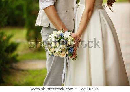 романтические · пару · женат · жених · невеста · свадьба - Сток-фото © clairev
