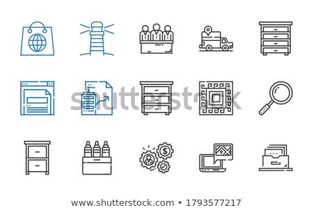Pliku etykiety karty widoku selektywne focus Zdjęcia stock © tashatuvango