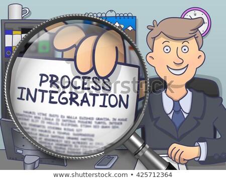 Process Integration through Lens. Doodle Style. Stock photo © tashatuvango