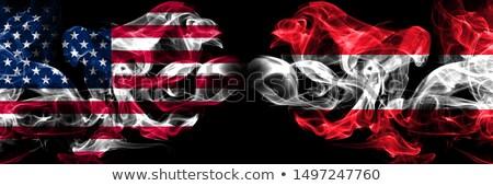 Football flammes pavillon Autriche noir 3d illustration Photo stock © MikhailMishchenko