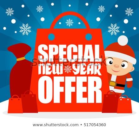 лучший · Новый · год · предлагать · Рождества · продажи · реклама - Сток-фото © dimpens