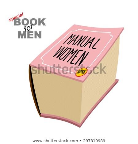 Manual mulheres instrução meninas especial livro Foto stock © popaukropa