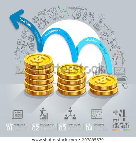 Kreatív háló piktogram felfelé nyíl jelzés interfész Stock fotó © studioworkstock