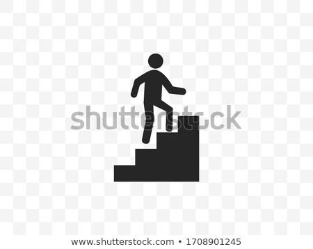 ストックフォト: Businessman On Stairwell