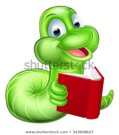 yeşil · tırtıl · karakter · örnek · komik · karikatür - stok fotoğraf © krisdog