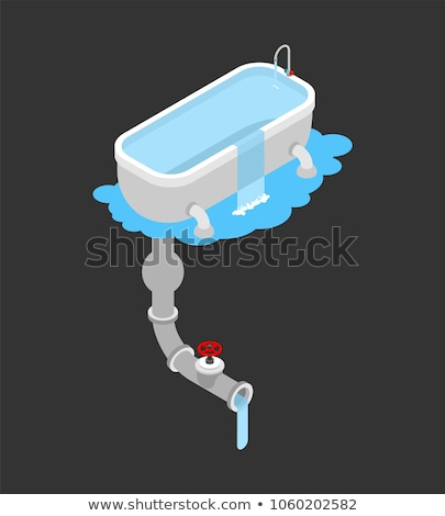 bath was clogged leakage canalization clogged in bathroom iso stock photo © popaukropa