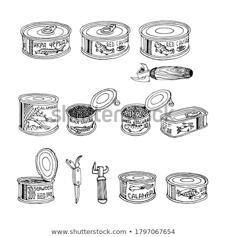 Canned fish isolated. seafood tin. Vector illustration Stock photo © MaryValery