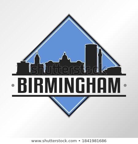 Birmingham város tájékozódási pont címke utazás Anglia Stock fotó © Terriana