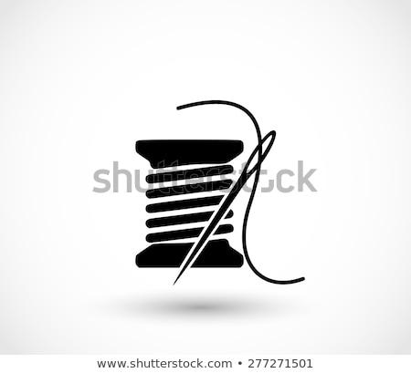 Makara iplik düğmeler beyaz yalıtılmış moda Stok fotoğraf © OleksandrO