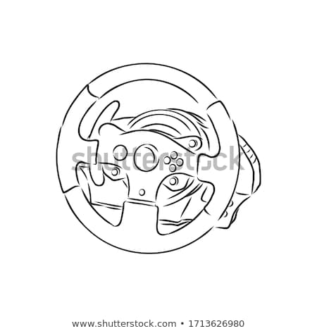 Stuur schets doodle icon drive Stockfoto © RAStudio