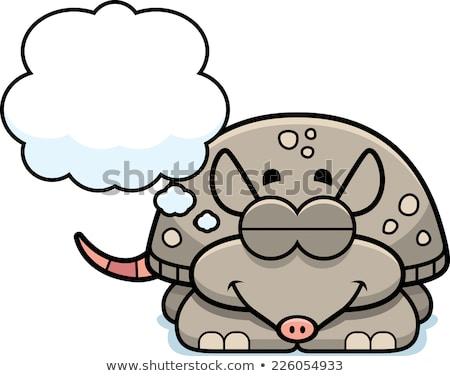 Küçük karikatür örnek bebek mutlu Stok fotoğraf © cthoman