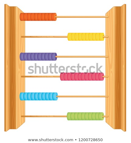 An abacus on whute background Stock photo © bluering