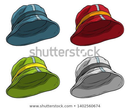 fishing men at beaches set vector illustration stock photo © robuart