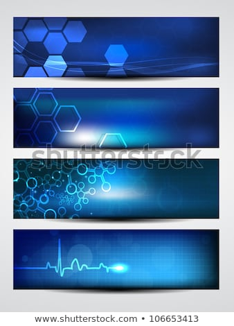 薬 ハートビート 青 バナー 抽象的な 科学 ストックフォト © alexaldo