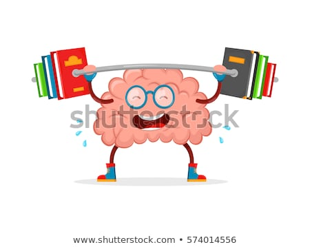 Brain Mascot Teach Illustration Stock photo © lenm