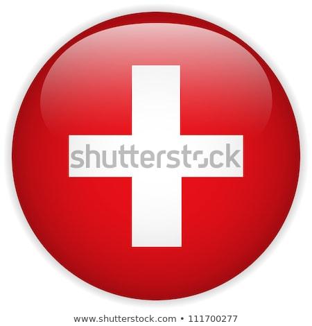Adesivo projeto bandeira Suíça ilustração arte Foto stock © colematt