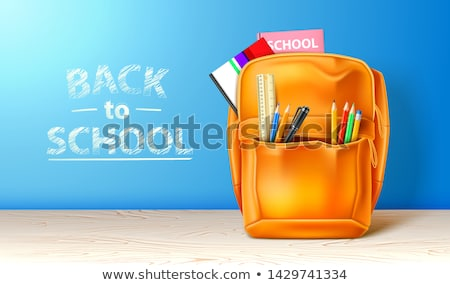 Back to School Poster with Fashionable Rucksack Stock photo © robuart
