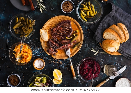 Table served with succulents for dinner stock photo © ruslanshramko