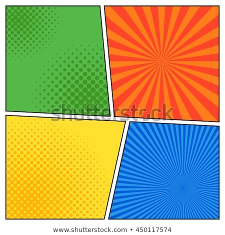Espressioni quattro diverso bolle illustrazione arte Foto d'archivio © colematt