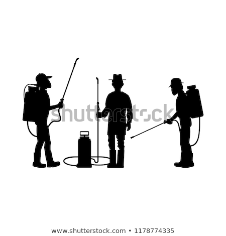 Farming Man with Sprayer Set Vector Illustration Stock photo © robuart