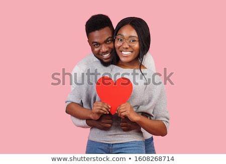 amor · coração · branco · assinar · romance - foto stock © andreypopov