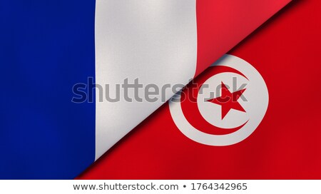 Two waving flags of France and tunisia Stock photo © MikhailMishchenko