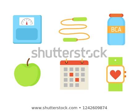 bcaa vitamin and apple fruit vector illustration stock photo © robuart