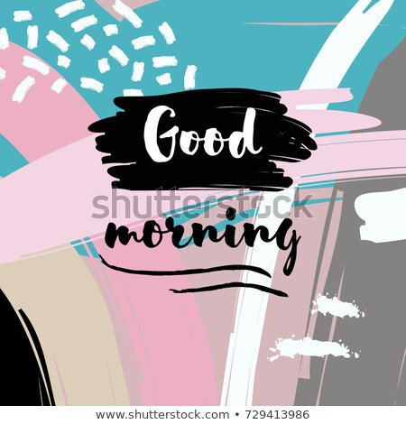 good morning   modern line design style web banner stock photo © decorwithme