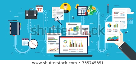 Report with investment data, planning and contract signature. Stock photo © cifotart