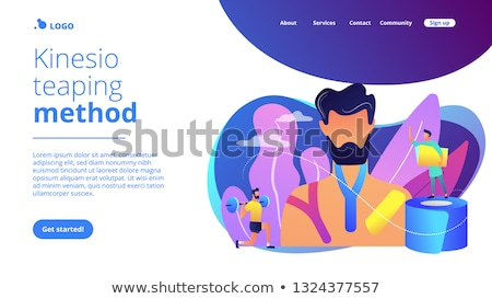 Kinesiology taping concept landing page. Stock photo © RAStudio