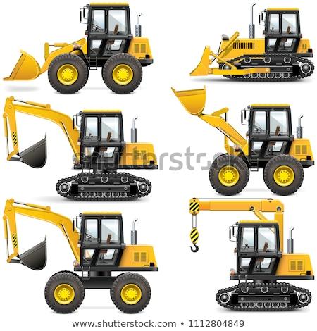 掘削機 建設 機械 クレーン 孤立した ストックフォト © robuart