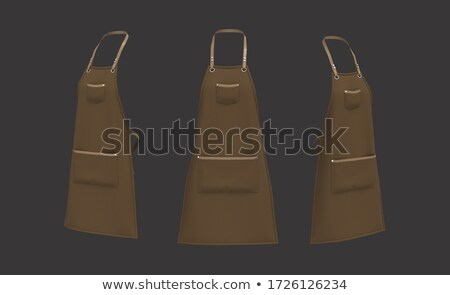 Barber in brown apron Stock photo © colematt