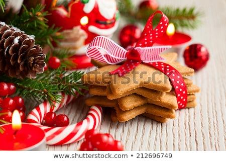 christmas · jodła · dekoracji · stożek · deser · puchar - zdjęcia stock © dolgachov