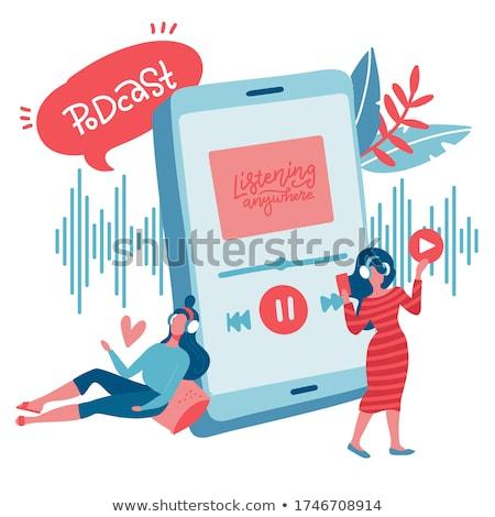 Teen Radio Podcast Illustration Stock photo © lenm