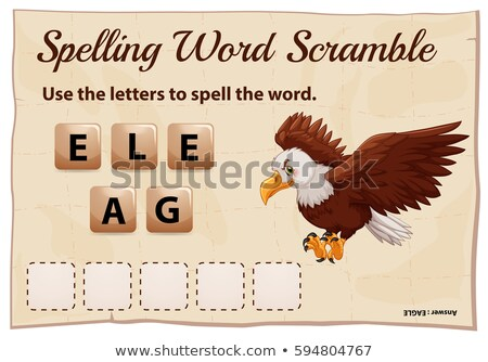 Rechtschreibung Wort Spiel Adler Illustration Schule Stock foto © colematt