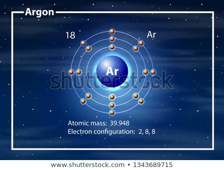 átomo diagrama ilustración diseno tecnología fondo Foto stock © bluering