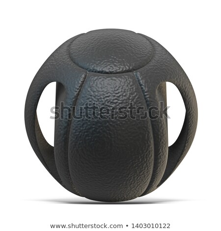 Black dual grip medicine ball 3D Stock photo © djmilic