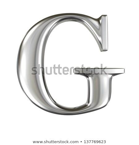 Stok fotoğraf: Paslı · Metal · mektup · g · 3D · 3d · render