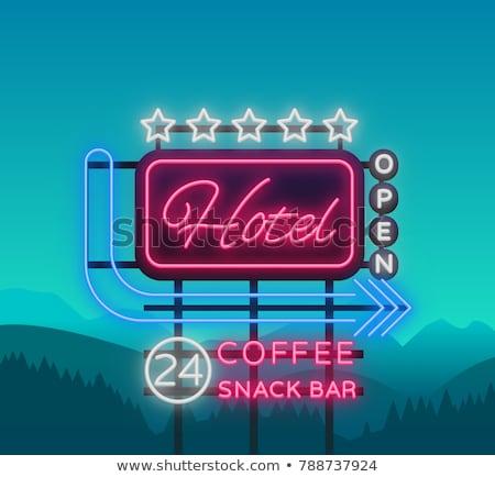 отель · иллюстрация · фон · знак · веб · Billboard - Сток-фото © olegtoka