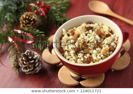 Pot with kutia – traditional Christmas sweet meal Stock photo © Melnyk
