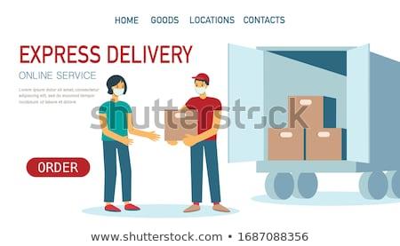 Foto stock: Alimentos · entrega · servicio · aterrizaje · página · para