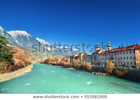 Casas río posada Austria colorido Foto stock © borisb17