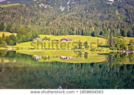 озеро альпийский пейзаж зеркало мнение регион Сток-фото © xbrchx
